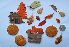 Lot 15Pcs Autumn Fruit,Pumpkin,Apple,Maple Tree and Log House Embroidery Patch