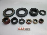 """Lot of Oil Seals, Assorted Types, Dimensions 1/4"""" to 3""""  *SEE DETAILS*"""