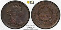 1804 Half Cent, C-13, Stemless Plain 4, No Stems, PCGS AU Details, Light Scratch