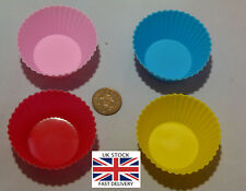Silicone Cup Cake Muffin or Bun Cases Baking Kitchen Bakery-UK STOCK