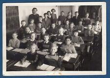 Vintage photo Zagreb 1956. Children Sit at their Desks in the School Classroom !