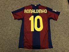 2007 2008 FC Barcelona Jersey Shirt Kit Ronaldinho Brazil Home Small S Nike 10