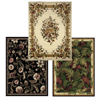 "Traditional Floral Oriental Area Rug 5x7 Border Persien Carpet -Actual 5'2""X7'2"""
