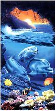 Handtuch Strandtuch Badehandtuch Saunatuch Motiv Delfin 150x70cm - BT-154