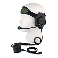 New Z Tactical Bowman Elite II Headset w/ PTT for Kenwood 2 Pin Radio Hot sale!!