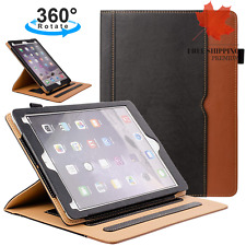 "New iPad 6th 5th Gen 9.7"" 2018 2017 Leather Case Folio Stand Protective Cover"