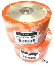 100 Titan 16X Logo DVD-R DVDR Blank Disc Media 4,7GB