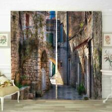 Mark Of Times Stone House 3D Blockout Photo Print Curtain Fabric Curtains Window