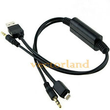 Cavo Y USB per Adattatore AUX Per BMW & BMW MINI Cooper iPhone 5 5 C 6 Interfaccia UK