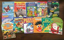 Lot 12 Kids Activity & Coloring Books All Unused Giant Animals Nature Insects