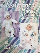 Crochet Pattern Rainbow Wear For Baby 2 Beautiful Sets 10 Pretty Designs