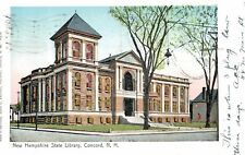 Concord,New Hampshire,State Library,Copper Windows,Used,Flag Cancel,1905