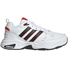 Para Hombre Adidas Strutter Blanco/Negro/Rojo Zapatillas Calzado Atlético Deporte EG2655 Tallas 8-13