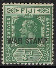 FIJI SG138b 1917 ½d BLUE-GREEN MTD MINT