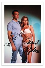 SEAN CONNERY & URSULA ANDRESS JAMES BOND DR NO SIGNED AUTOGRAPH PHOTO PRINT