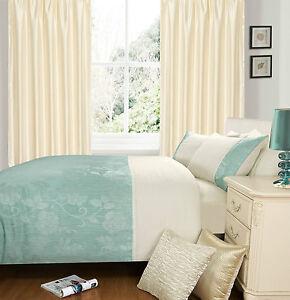 Luxury Jacquard Contemporary Lace Trim Floral Duvet Quilt Cover Bedding Set