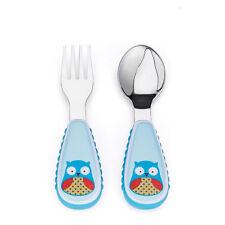 Skip Hop Zoo Fork & Spoon Utensil Set - Owl