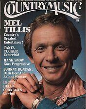 Country Music Magazine April 1977 Mel Tillis, Tanya Tucker EX 112315DBE