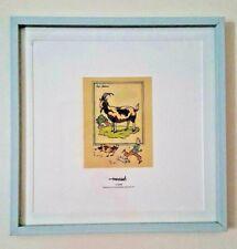 "Herge ""Tintin and the Goat"" (La Chèvre) - Framed Print"