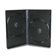 50 CUSTODIE CD DVD vergini DOPPIE NERE 14 mm custodia