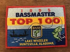 Bassmaster 1995 Top 100 Lake Wheeler Huntsville, Al Fishing Tournament Patch