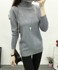High-necked sweater women's autumn and winter