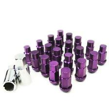 M12 X 1.25mm Aluminum Wheel Lug Nuts w/Lock Fit 350Z 370Z 240SX Altima Purple
