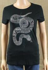 9376dc52b Vans Off The Wall Slither Dither Crew Tee Womens Black Snake Slim T-Shirt  NWT