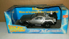 1/18 SCALE DIECAST SUNSTAR BACK TO THE FUTURE TIME MACHINE DELOREAN MCFLY BOXED