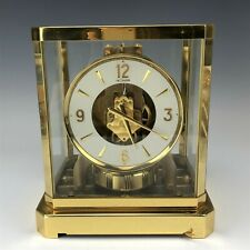 Vintage Jaeger LeCoultre ATMOS 528-6 Gilt Brass Swiss 179193 Mantle Clock NR WBE