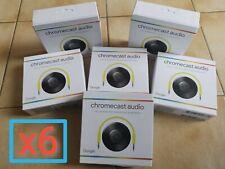 x6 Google Chromecast Audio NEUF - NEW - NEU - NIEUW - NUEVO - NOVO - NOWY