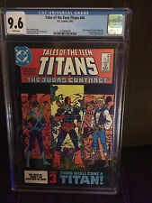 Tales of the Teen Titans #44 CGC 9.6 white page 1st Nightwing origin Deathstroke