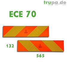 2 x Heckmarkierung 565 x 132 ECE 70.01 Warntafel Aluminium Reflektor LKW SZM