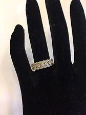14k 14kt White Gold Diamond Band Ring 5 Grams Size 7