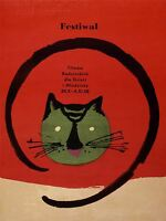 ART PRINT POSTER ADVERT EVENT FESTIVAL FILM MOVIE CAT POLAND WARSAW NOFL1629