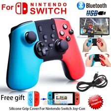 Wireless Controller Gamepad Joypad Joystick W/ Grip Cover for Nintendo Switch NS