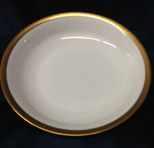 "LENOX OXFORD BENNINGTON COUPE SOUPE BOWL 7 5/8"" GOLD ENCRUSTED BAND & GOLD TRIM"