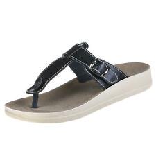 Markenlose Damen-Sandalen & -Badeschuhe im Zehentrenner-Stil aus Echtleder für Freizeit