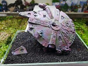 "Damaged Galactic Kestrel ""Star Wars Style Falcon"" Aquarium Fish Tank Ornament"