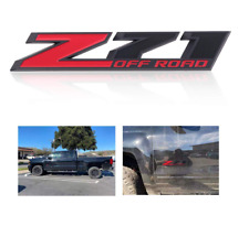 3D Red Black Z71 Off Road Door Emblem Decal Fit GMC Chevrolet Truck 2014 - 2017