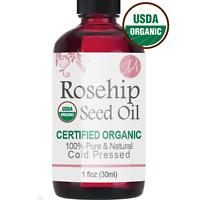 Rosehip Seed Oil (100% PURE & ORGANIC) Reduce Acne, Dandruff & Moisturizer 1oz