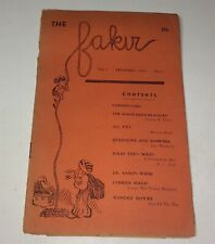 Rare Antique The Fakir Magic Booklet Vol. 3 December 1946 No.6 Aaron Weiss! Us!