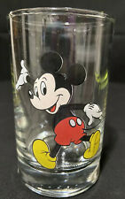 """Mickey Mouse WALT DISNEY PRODUCTIONS Authentic Glass Tumbler Cup Collectibles 4"""""""