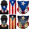 PUERTO RICO Flag Face Mask Fishing Shield Neck Gaiter Bandana Headband Balaclava