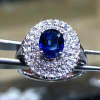 3.54 Ct Oval Tanzanite Diam Dual Stepped Halo Women's Classic Cocktail Ring Over