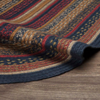 """COUNTRY PRIMITIVE RUSTIC 60"""" X 96"""" OVAL JUTE RUG VHC BRANDS ~ STRATTON"""