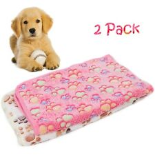 2 Pack Puppy Blanket Warm Soft Pet Dog Cat Sofa Car Blankets Sleep Mat Bed Cover