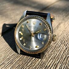 Vintage Rolex Date 1505 Steel Gold Two Tone Oyster Perpetual Automatic Watch