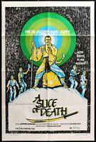 A SLICE OF DEATH Sir Run Shaw KUNG FU ORIGINAL 1983 1 SHEET MOVIE POSTER 27 x 41