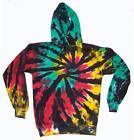RASTA REGGAE SPIDER WEB TIE DYED ADULT HOODIE sweat shirt tye dye men women neon
